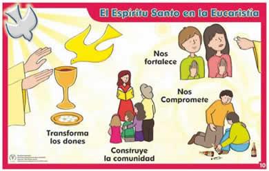 Espiritu santo en eucaristia
